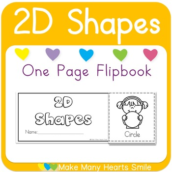 One Page Flip Book: 2D Shapes