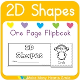 One Page Flip Book: 2D Shapes     MMHS14
