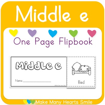 One Page Flip Book: Middle e