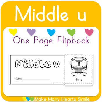 One Page Flip Book: Middle u
