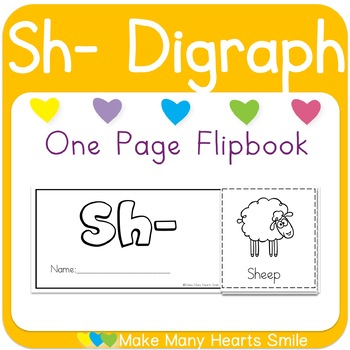 One Page Flip Book: Sh digraph