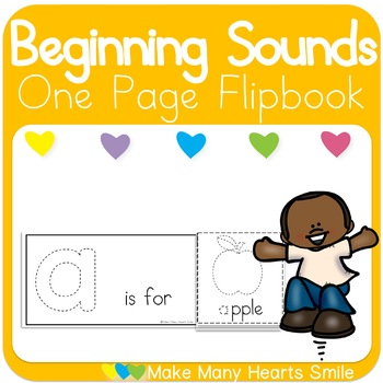 One Page Flipbook: Beginning Sounds