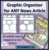 Graphic Organizer for ANY News Article, non-fiction analysis