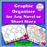 Graphic Organizer for ANY Novel or Short Story, fiction analysis