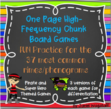 One Page Phonics Games: Highest Frequency Chunks Rimes Pho