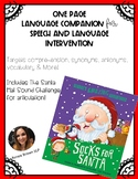 One Page Language Companion for Speech Intervention and SPED