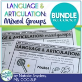 One Page Language and Articulation BUNDLE for SLPs