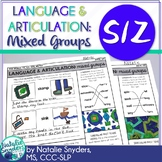 One Page Language and Articulation - for S and Z