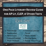 One Page Literary Review Guide - Realism