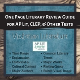 One Page Literary Review Guide - Victorian Literature