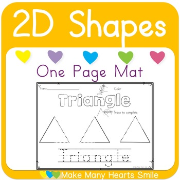 One Page Mats: 2D Shapes