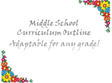 One Page Middle School Curriculum Outline for Hard to Reach Students