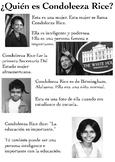 One Page Novice-Low Biographies: Condoleeza Rice