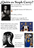 One Page Novice-Low Biographies: Steph Curry