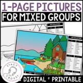 One Page Picture Scenes for Speech Therapy Mixed Groups Ar
