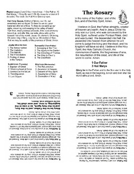 One Page Rosary