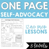 One Page Self-Advocacy for No Prep Hearing Services