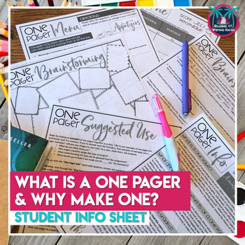 Scaffolded One Pager: A Thematic Response to Reading Activity