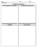 One Pager Activity