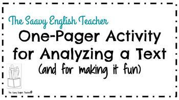 One-Pager Activity