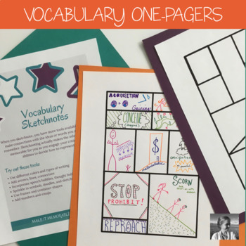 One-Pager Activity for Any Vocabulary Set