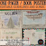 One-Pager / Book Poster EDITABLE Guidelines and Rubric