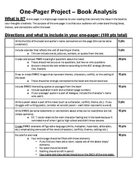 One Pager Grading Rubric