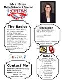 One-Pager Meet-the-teacher