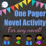 One Pager Novel Project for ANY novel