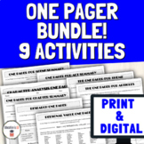Print & Digital One Pager Bundle for Books, Plays, Current