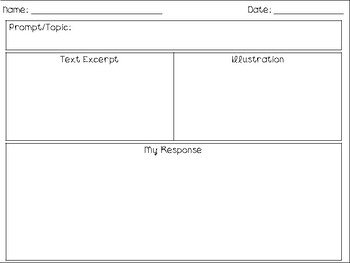 One Pager Template for ANY Text or Topic