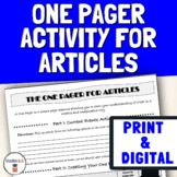 Current Events Analysis & News Article of the Week | Digital One Pager