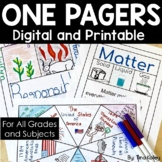 One Pager Templates   Printable and Digital One Pager