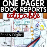 One Pager Templates | Book Report Templates