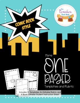 One Pager Templates Comic Book Style
