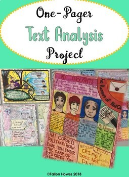 One-Pager Text Analysis - Rubric - Engaging - Creative - Editable!