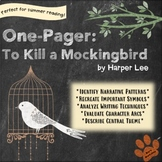 One-Pager: To Kill a Mockingbird Middle High School Novel
