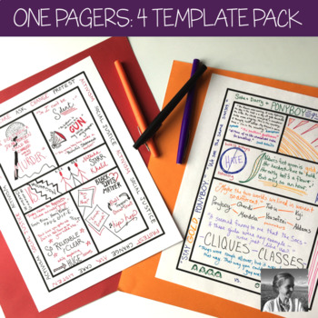 One Pagers: 4 Template Packet (Distance Learning)