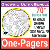 One Pager Bundle - 70+ Templates - Digital & PDF - Great for End of Year