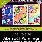 One Palette Abstract Painting+12 Handouts! BONUS IPad Phot