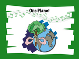 Earth Day Song Kit: One Planet song, Piano/vocal score, PPT, perf/acc mp3 tracks