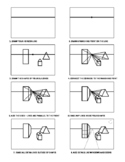 One Poiint Perspective Handout, Step-By-Step, Art Sub Plan