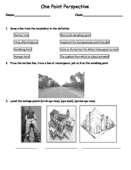One Point Perspective Assessment