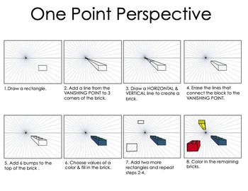 One Point Perspective Bricks