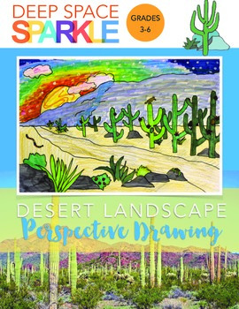 One-Point Perspective Desert Landscape Art Project