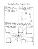 One Point Perspective Drawing Handout for Art Education!
