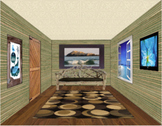One Point Perspective Photoshop Room