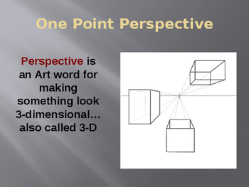 One-Point Perspective PowerPoint