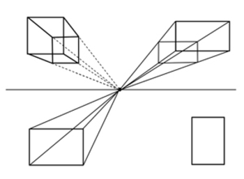 One Point Perspective PowerPoint Tutorial Drawing Boxes