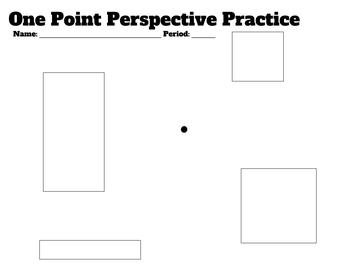 One Point Perspective Practice Sheet